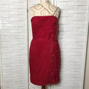 Aidan Mattox One Shoulder Dress